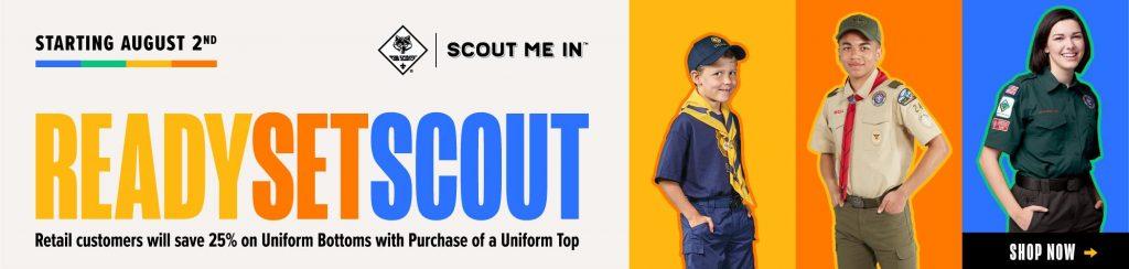 Ready, Set, SCOUT Uniform Promo